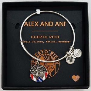 Alex And Ani Puerto Rico Silver Bangle